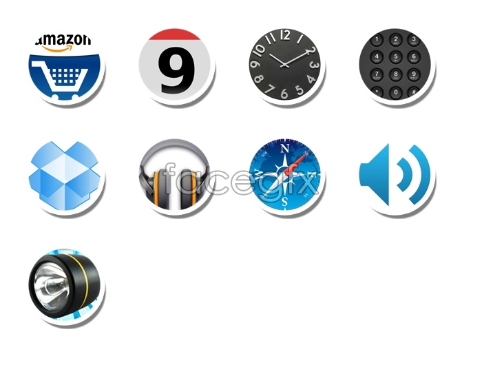 Simple design desktop icons