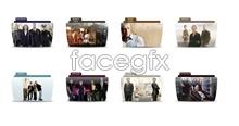 Film character folder icons