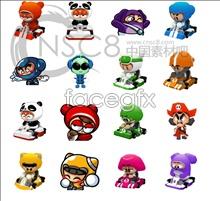 Kart game icons