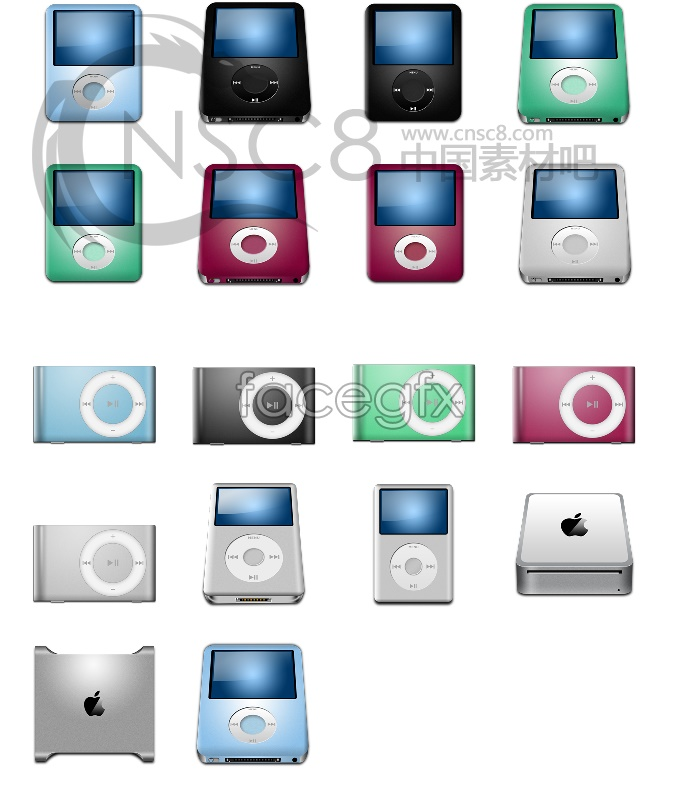 Apple products icons
