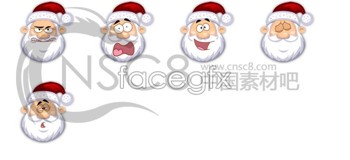 Cute Santa Claus icons