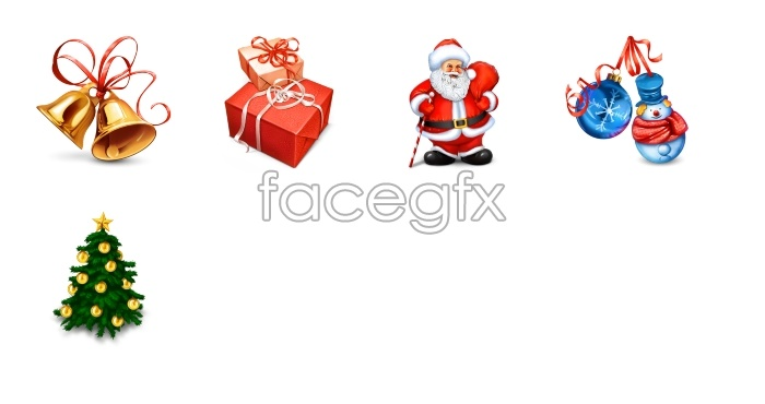 Elements of Christmas icons