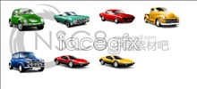 Texture classic car icons