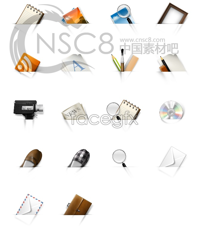 Translucent computer icons