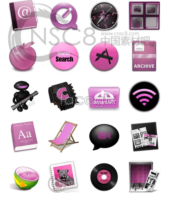 Female designed desktop icons