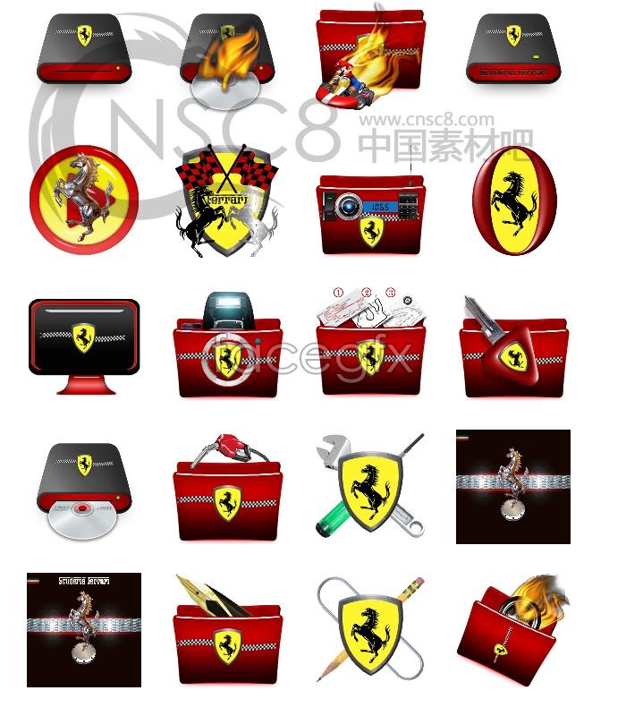 Ferrari desktop icons