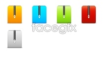 Zipped series icons