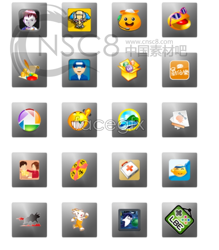 Cartoon Mobile themes icons