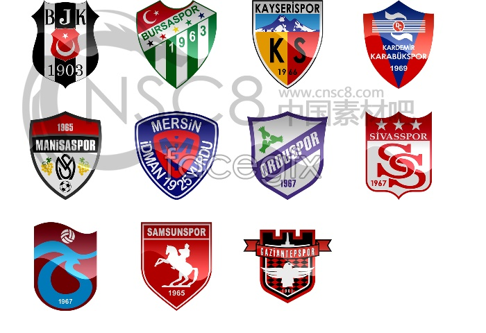 Football team logo icons