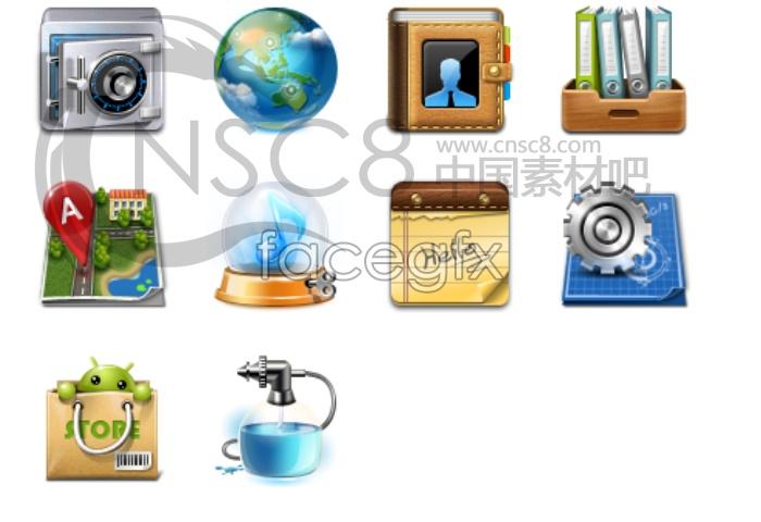 The phone menu icon material