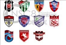 Football team logo icons