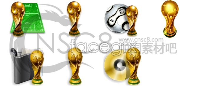 World Cup football trophy icon