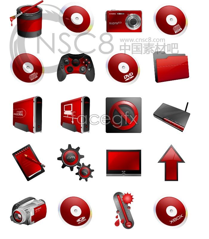 Red air desktop icons