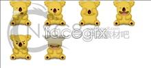 Cute koala bear icon
