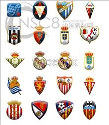 La Liga Football League team logos