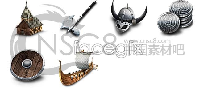 Ancient tools desktop icons