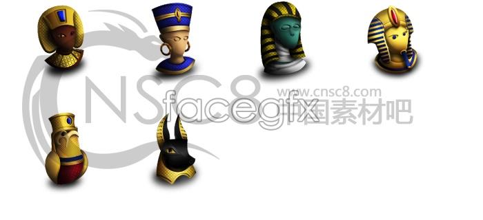 Egypt civilization desktop icons