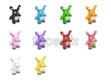 Cute cartoon rabbit icons