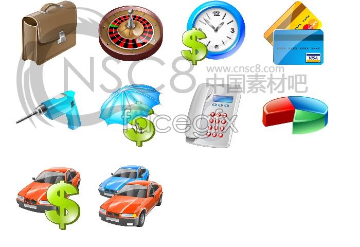 Vista business icons