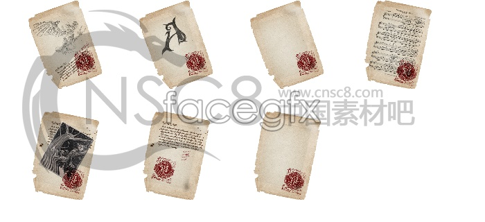 Ancient paper desktop icons