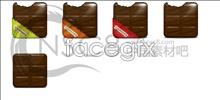 Chocolate desktop icons