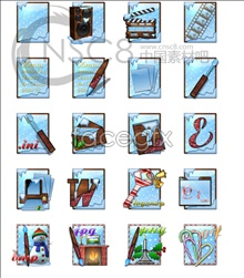 Christmas file desktop icon