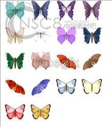 Flora fairy butterfly icon