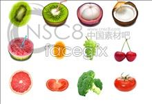 Fresh fruit desktop icons