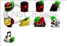 Coccinella desktop icons