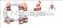 Cute cake icons