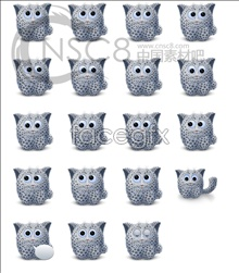 Cute Snow Leopard computer icons