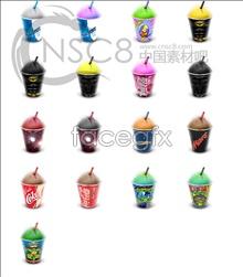 Ice cream drinks desktop icons