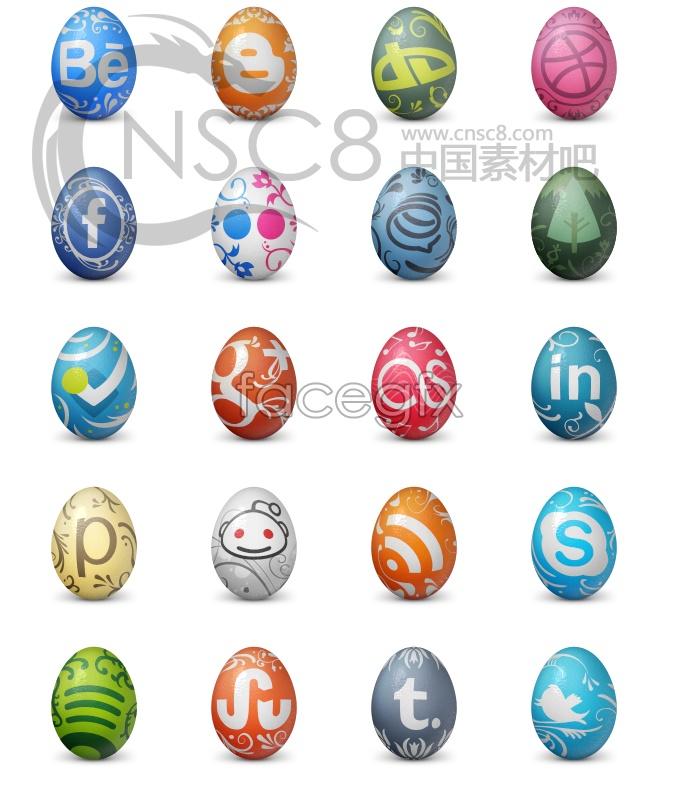 Egg design desktop icons