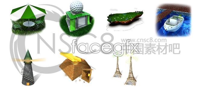 Holiday desktop icons