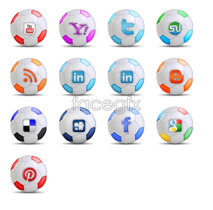 Soccer social media icons