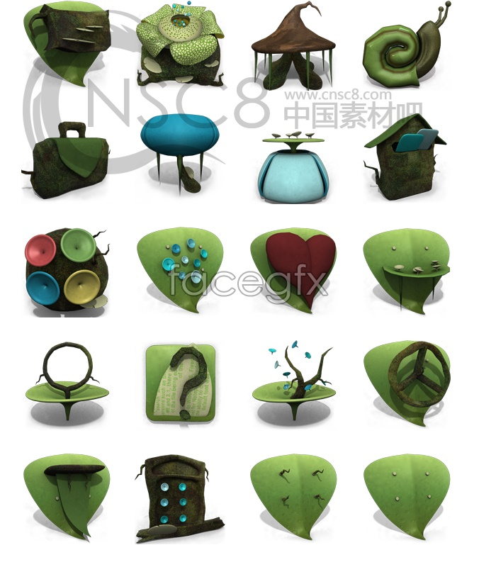 The secret garden icons