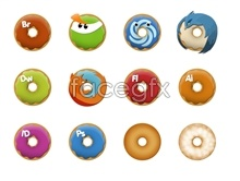 Donuts icons software