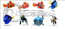 Finding Nemo clown fish icon