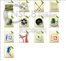 Green files desktop icons