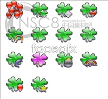 Plant leaf jelly icons
