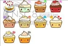 Shanghai style cake desktop icons