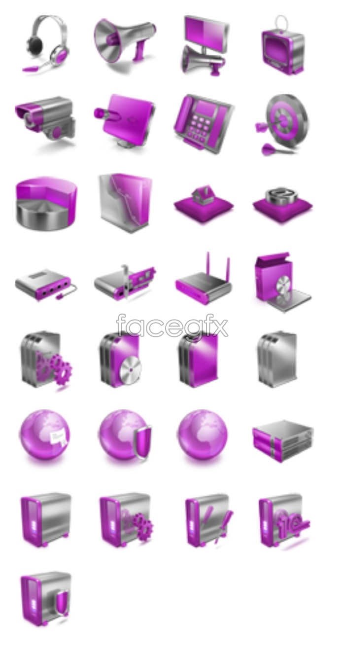 Purple pages small icons