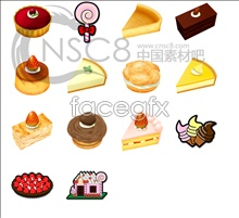 Delicate cookies icon