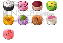 Delicious rice cake desktop icons