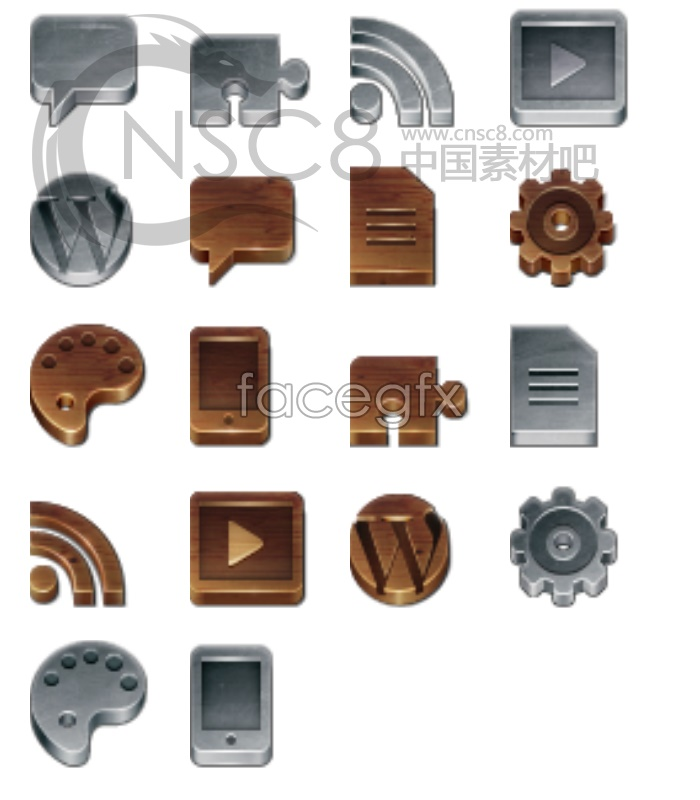 WordPress website icons