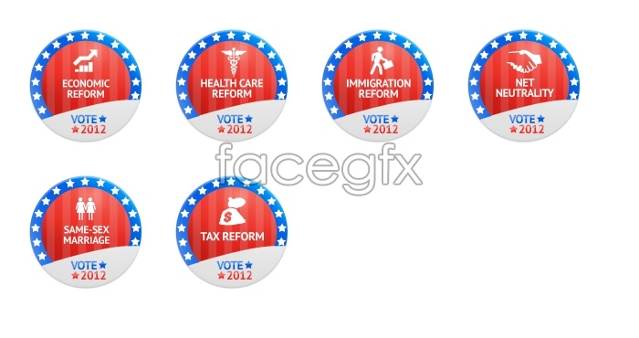 2012 general election voting icons