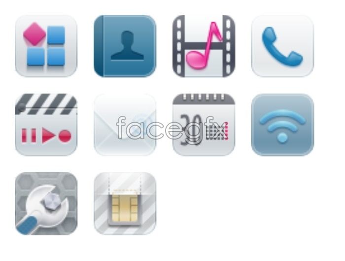Small fresh mobile icons