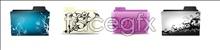 Color pattern folder icons