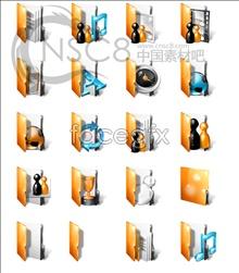 Golden folder icons