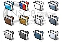 Three cascading colored folders
